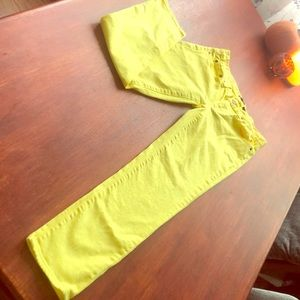 J. Crew crop 'toothpick' (bright-yellow) jeans!☀️